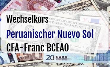 Peruanischer Nuevo Sol in CFA-Franc BCEAO