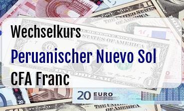 Peruanischer Nuevo Sol in CFA Franc