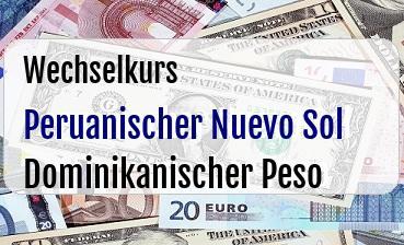 Peruanischer Nuevo Sol in Dominikanischer Peso