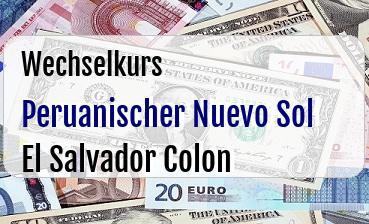 Peruanischer Nuevo Sol in El Salvador Colon