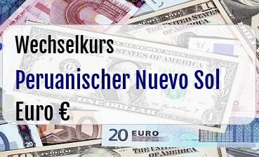 Peruanischer Nuevo Sol in Euro