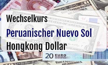 Peruanischer Nuevo Sol in Hongkong Dollar