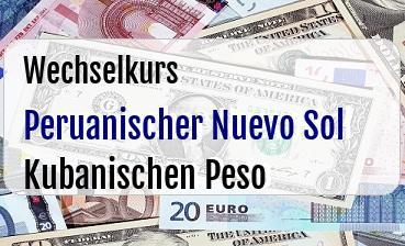 Peruanischer Nuevo Sol in Kubanischen Peso