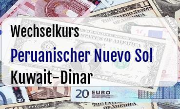 Peruanischer Nuevo Sol in Kuwait-Dinar