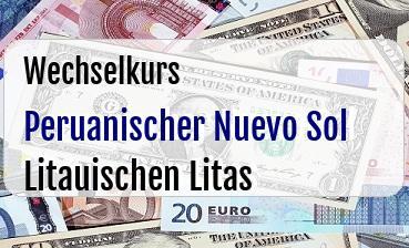 Peruanischer Nuevo Sol in Litauischen Litas