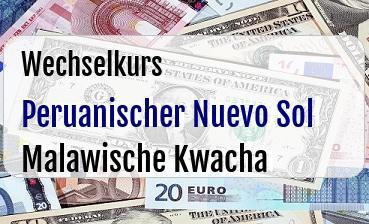 Peruanischer Nuevo Sol in Malawische Kwacha