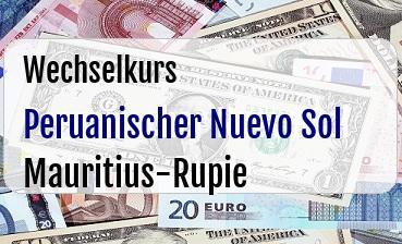 Peruanischer Nuevo Sol in Mauritius-Rupie