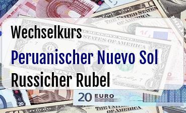 Peruanischer Nuevo Sol in Russicher Rubel