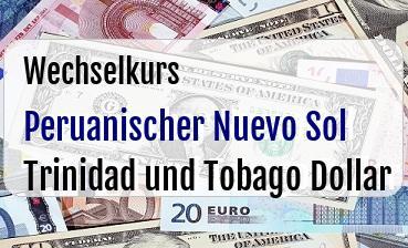 Peruanischer Nuevo Sol in Trinidad und Tobago Dollar