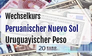 Peruanischer Nuevo Sol in Uruguayischer Peso