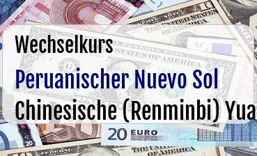 Peruanischer Nuevo Sol in Chinesische (Renminbi) Yuan