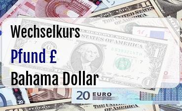 Britische Pfund in Bahama Dollar