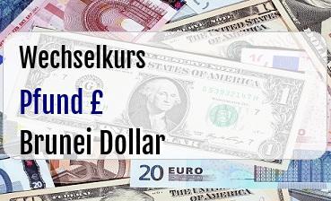 Britische Pfund in Brunei Dollar
