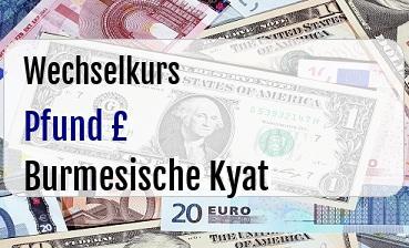 Britische Pfund in Burmesische Kyat