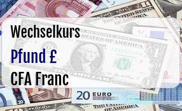 Britische Pfund in CFA Franc