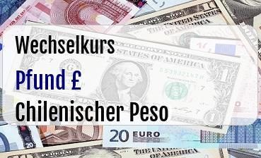 Britische Pfund in Chilenischer Peso