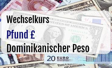 Britische Pfund in Dominikanischer Peso