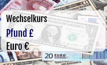 Britische Pfund in Euro