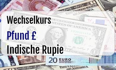 Britische Pfund in Indische Rupie