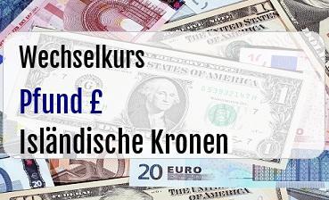 Britische Pfund in Isländische Kronen