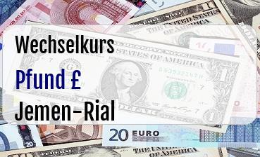 Britische Pfund in Jemen-Rial
