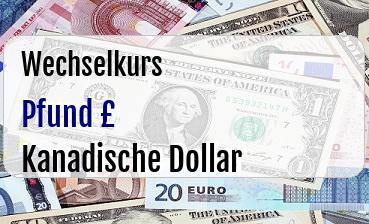 Britische Pfund in Kanadische Dollar