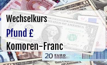 Britische Pfund in Komoren-Franc
