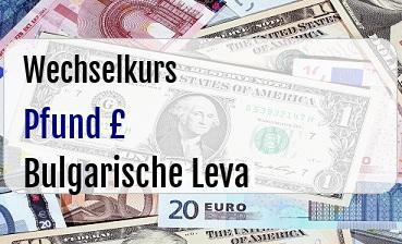 Britische Pfund in Bulgarische Leva