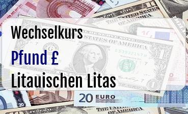 Britische Pfund in Litauischen Litas