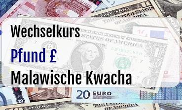 Britische Pfund in Malawische Kwacha