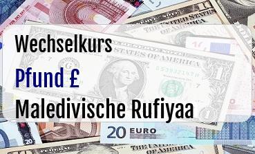 Britische Pfund in Maledivische Rufiyaa