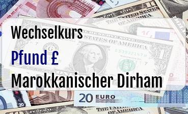 Britische Pfund in Marokkanischer Dirham