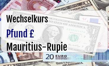 Britische Pfund in Mauritius-Rupie