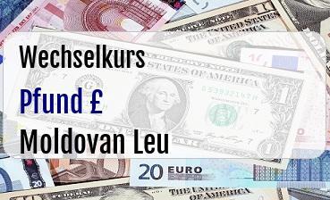 Britische Pfund in Moldovan Leu
