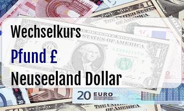 Britische Pfund in Neuseeland Dollar