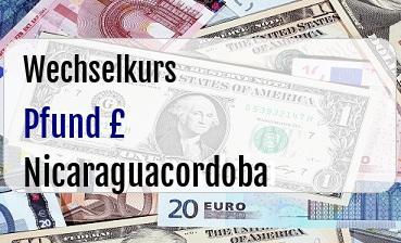 Britische Pfund in Nicaraguacordoba