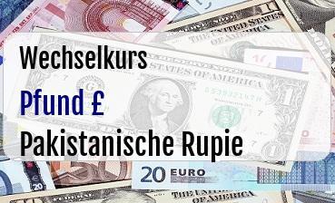Britische Pfund in Pakistanische Rupie