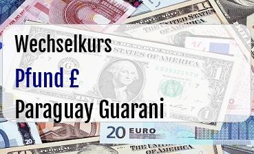 Britische Pfund in Paraguay Guarani