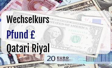 Britische Pfund in Qatari Riyal