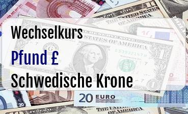 Britische Pfund in Schwedische Krone