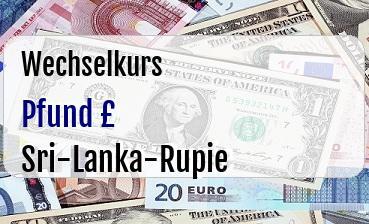 Britische Pfund in Sri-Lanka-Rupie
