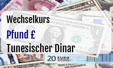 Britische Pfund in Tunesischer Dinar