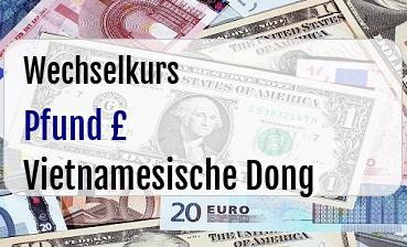Britische Pfund in Vietnamesische Dong