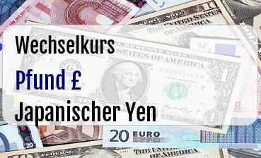 Britische Pfund in Japanischer Yen