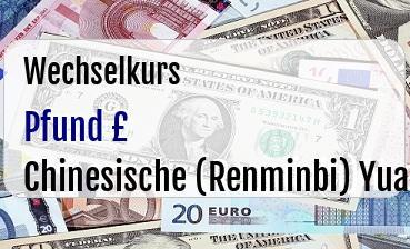 Britische Pfund in Chinesische (Renminbi) Yuan