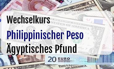 Philippinischer Peso in Ägyptisches Pfund