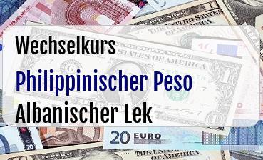 Philippinischer Peso in Albanischer Lek