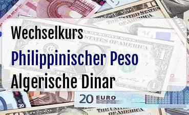 Philippinischer Peso in Algerische Dinar
