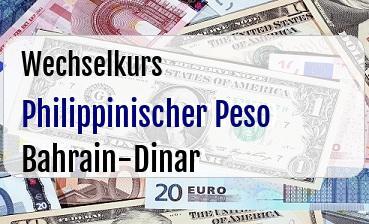 Philippinischer Peso in Bahrain-Dinar