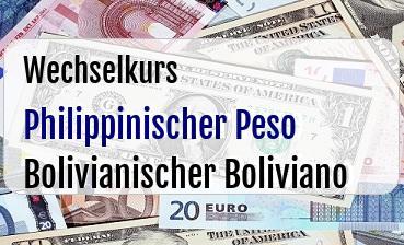Philippinischer Peso in Bolivianischer Boliviano